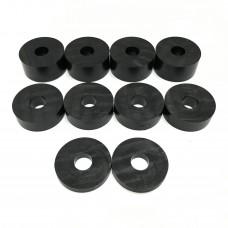 10mm (M10) Nylon Spacers Black (32mm diameter)