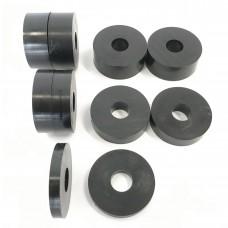 12mm (M12) Nylon Spacers Black (38mm diameter)