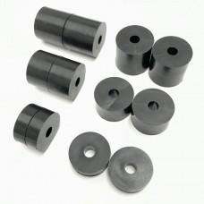4mm (M4) Nylon Spacers/Standoff Washers  Black (16mm diameter)