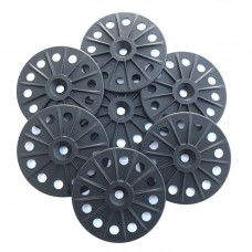 Reinforced 60mm washers for fixing Rigid Wood Fibre Insulation Boards - Black