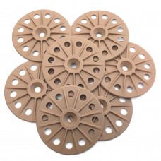 Reinforced 60mm washers for fixing Rigid Wood Fibre Insulation Boards - Brown