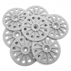 Reinforced 60mm washers for fixing Rigid Wood Fibre Insulation Boards - Grey