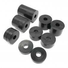 6mm (M6) Nylon Spacers Black (20mm diameter)