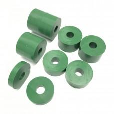 8mm (M8) Nylon Spacers - Green (26mm diameter)