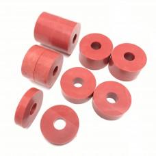 8mm (M8) Nylon Spacers - Red (26mm diameter)