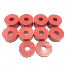 8mm (M8) Nylon Spacers - Red