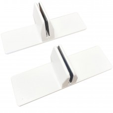 Free Standing Screen clamps for glass or acrylic sheet, 4mm to 6mm - white, 2pcs
