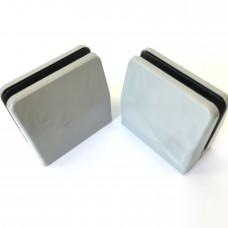 Desk partition screen clamps for glass/acrylic sheet, 4mm to 6mm - Grey Marble, 2pcs