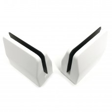 Desk partition screen clamps for glass or acrylic sheet, 4mm to 6mm - white, 2pcs